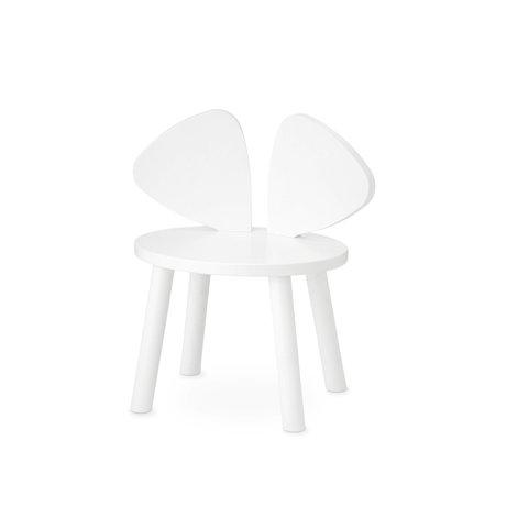 NOFRED Kinderstuhl Maus weiß Holz 42,5x28x46,4 cm
