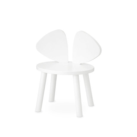 NOFRED toddler chair mouse white wood 42.5x28x46.4 cm