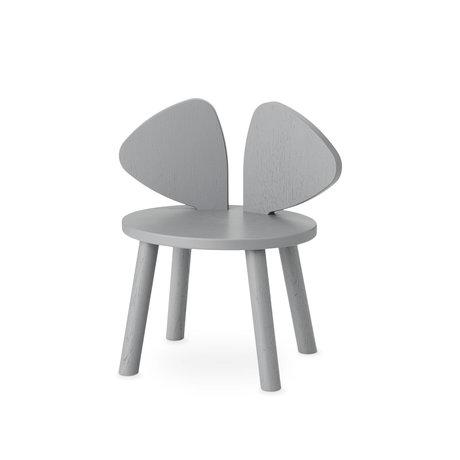 NOFRED chaise enfant en bois gris souris 42.5x28x46.4 cm