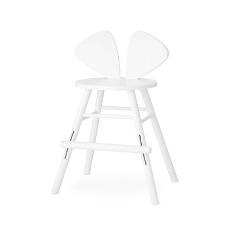 NOFRED children's stool mouse white wood 51.59x43.93x77.3cm
