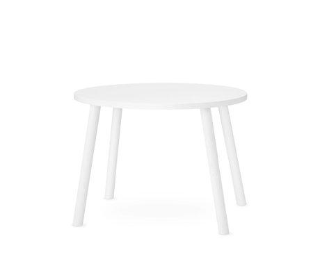 NOFRED souris de table enfant en bois blanc 60x46x43.7cm