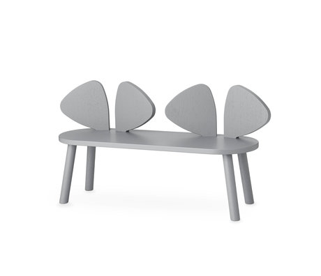 NOFRED children's bench mouse gray wood 87.2x28x46.4 cm