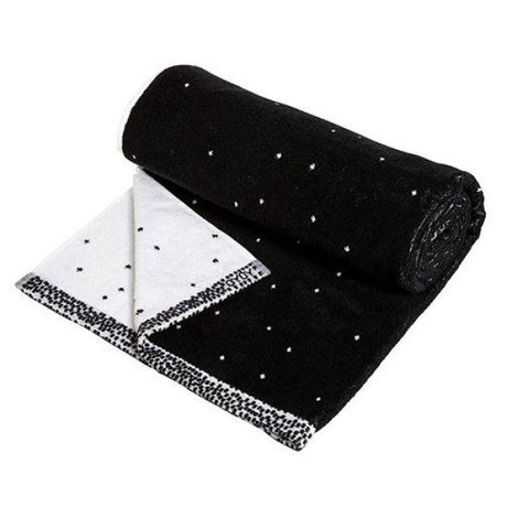 OYOY Dotty towel small black and white cotton 50x100cm