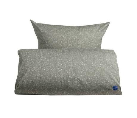 OYOY Duvet starry junior grau weiß Baumwolle 100x140cm