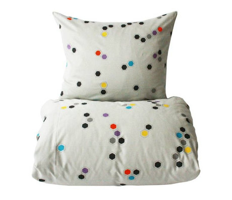 OYOY Duvet cover Honeycomb baby multicolour cotton 70x100cm