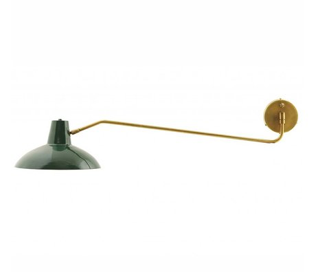 Housedoctor Wall Lamp Desk metal matt green gold ø31x104cm