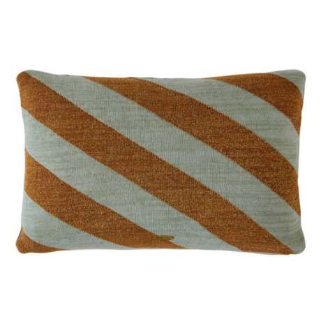 OYOY Throw pillow Takara Mint Caramel brown cotton 35x50cm