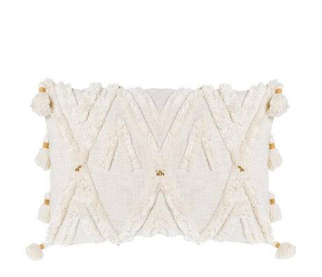 Riverdale Coussin Ibiza coton blanc crème 35x60cm
