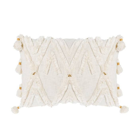 Riverdale Cushion Ibiza cream white cotton 35x60cm