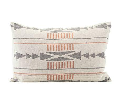 Housedoctor Housse de coussin Tribe multicolore coton 60x40cm