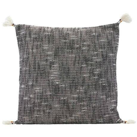 Housedoctor Housse de coussin Tassi noir blanc textile 50x50cm