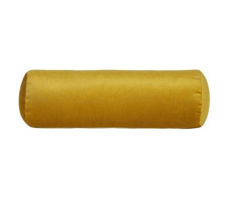 BePureHome Rolkussen Spool oker geel fluweel velvet Ø20x61cm