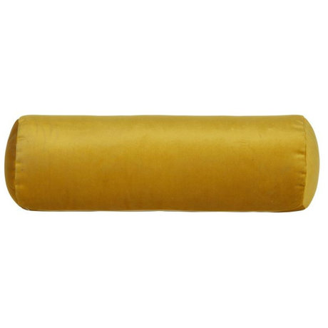 BePureHome Roll pillow Spool ocher yellow velvet velvet Ø20x61cm