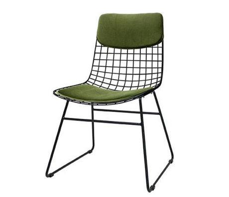 HK-living Comfort kit velvet green for metal wire seat