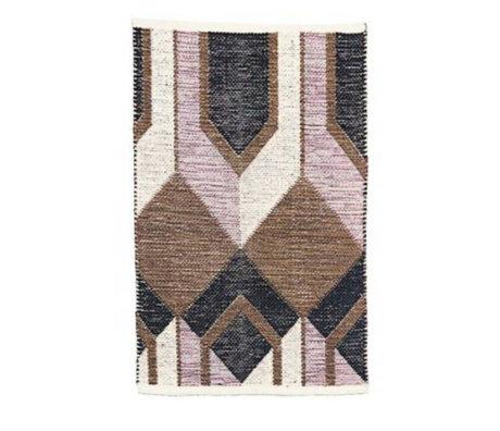 Housedoctor Carpet Art multicolour cotton 90x60cm