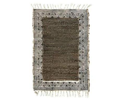 Housedoctor Doormat Nola brown jute cotton 90x60cm