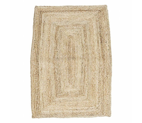 Housedoctor Tapis Structure brun naturel 85x130cm de chanvre
