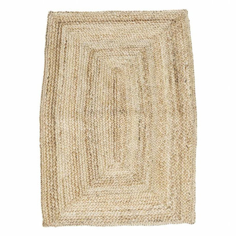 Housedoctor Flooring Structure natural brown hemp 85x130cm