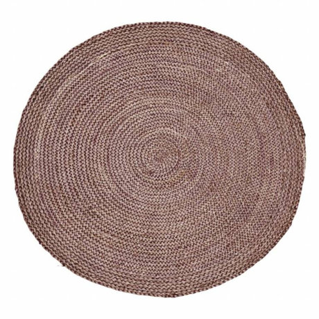 Housedoctor Flooring Structure Henna pink red hemp ∅ 100cm