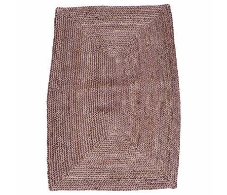 Housedoctor Tapis Structure Henné Chanvre Rose Rouge 85x130cm