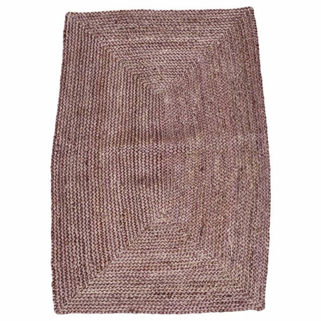 Housedoctor Carpet Structure Henna pink red hemp 85x130cm