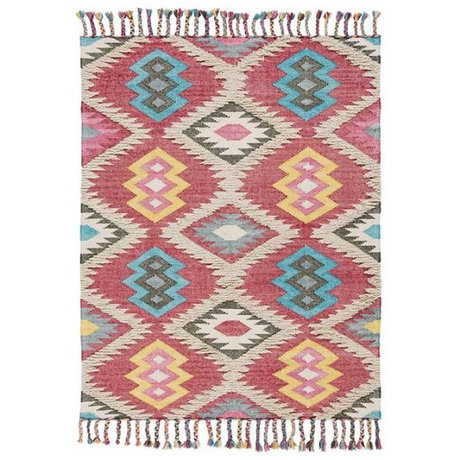 LEF collections Teppich Außen Aylen Mehrfarben Textil in drei Dimensionen