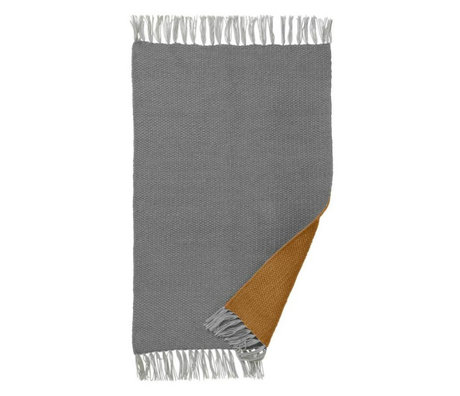 Ferm Living Vloerkleed Nomad curry geel grijs gerecycled polyester S 60x90cm