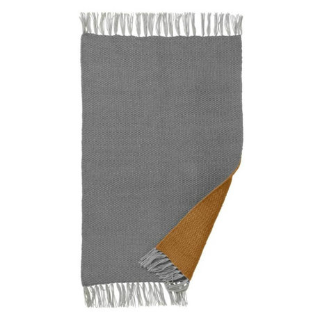 Ferm Living Rug Nomad curry gray recycled polyester S 60x90cm