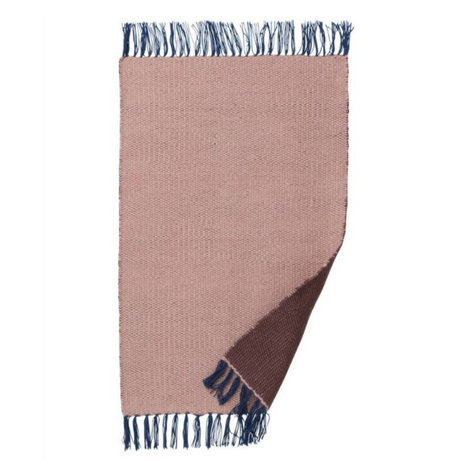 Ferm Living Rug Nomad pink recycled polyester S 60x90cm