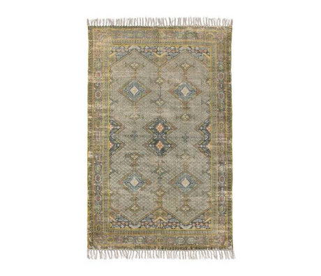 HK-living Rug green multicolour cotton 120X180cm