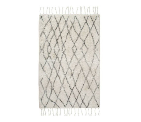 HK-living Carpet bath mat medium checked 60x90cm