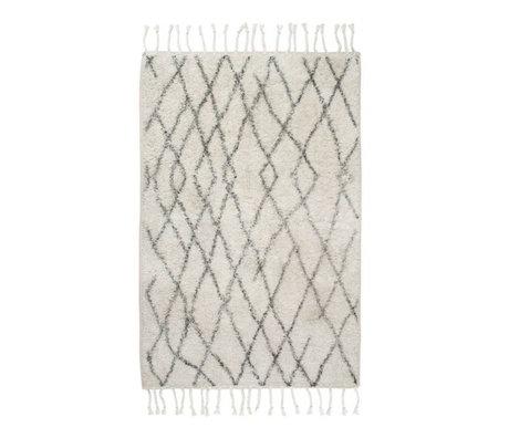 HK-living Carpet mat 60x90cm checkered medium