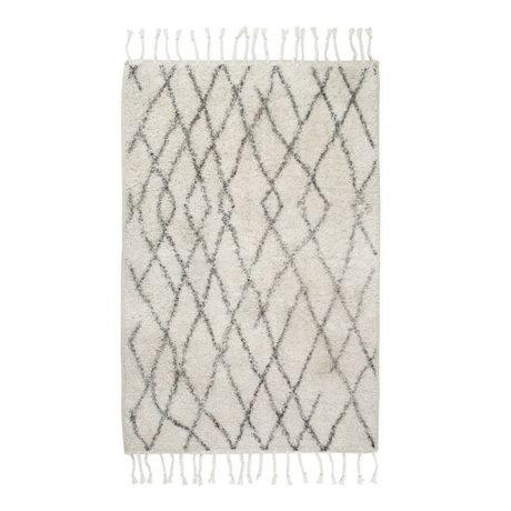 HK-living Vloerkleed badmat medium geruit 60x90cm