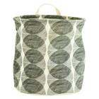 Housedoctor Bourriche Circles blanc / coton noir / polyester / rayonne Ø30x30cm