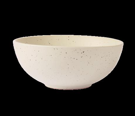 HK-living Schaal Bold & Basic wit keramiek Ø16x6,5cm
