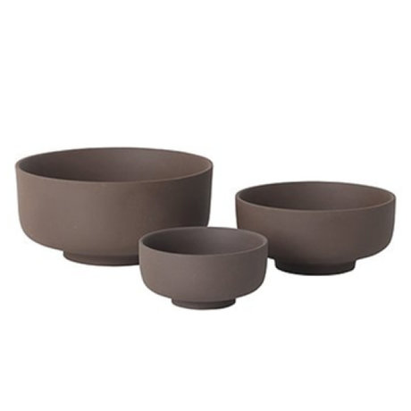 Ferm Living Dishes set of 3 Sekki red brown ceramics