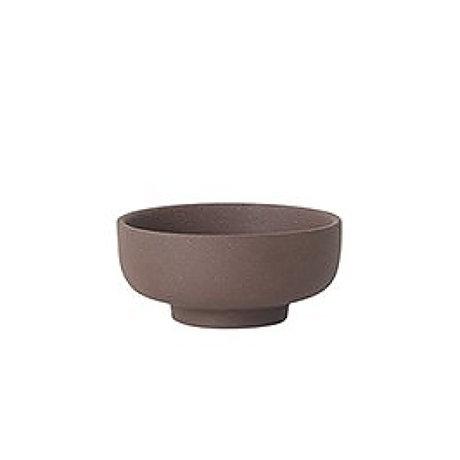 Ferm Living Sel récipient Sekki rougeâtre céramique brune Ø7.5x3.3cm