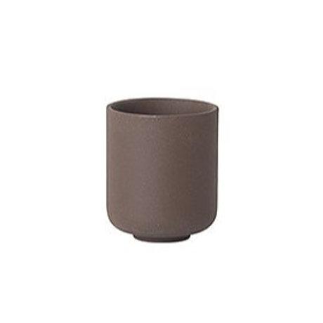 Ferm Living Cup Sekki rotbraune Keramik kleine Ø6.5x5.5cm