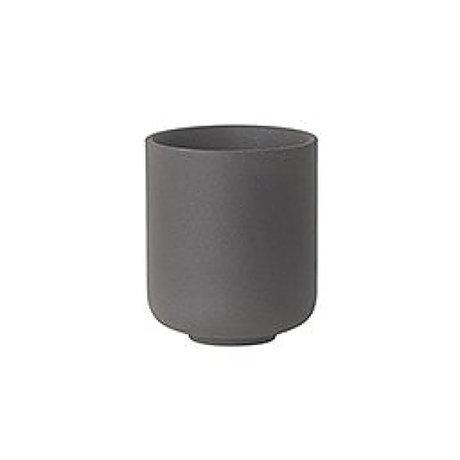 Ferm Living Kopje Sekki grijs bruin keramiek small Ø6.5x5.5cm