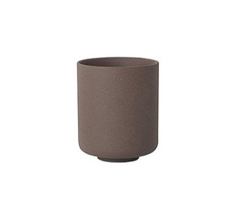Ferm Living Cup Sekki rotbraune Keramik große Ø7.7x9.2cm