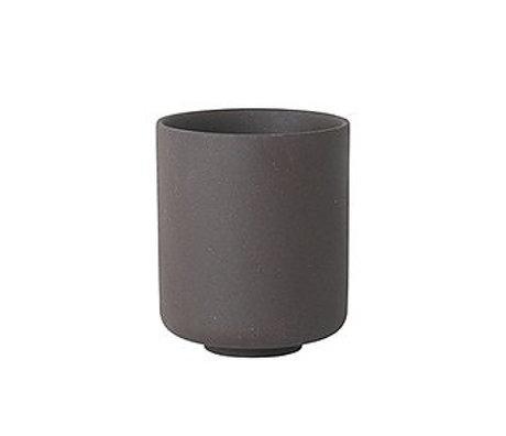 Ferm Living Cup of Sekki gray ceramic large Ø7.7x9.2cm