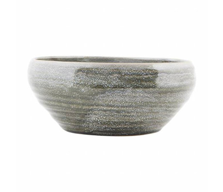 Housedoctor Schaal Nord grijs aardewerk ø22x10cm