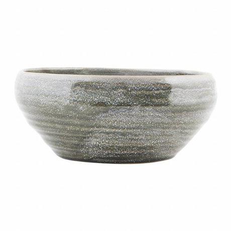 Housedoctor Nord poterie échelle de gris ø22x10cm