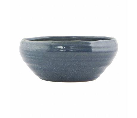 Housedoctor bol de poterie bleue Nord ø22x10cm