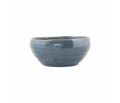 Housedoctor plat Nord poterie bleue ø14,5x6,5cm