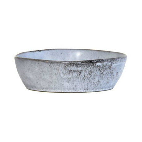 HK-living Bowl gray ceramic medium 19x19x5.2 cm