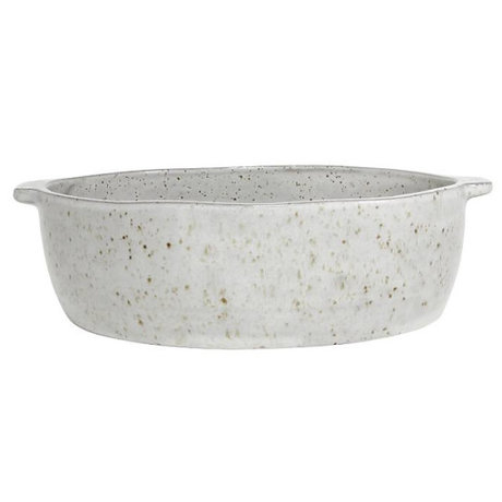 HK-living Scale speckled finish white pottery 22x20x6cm