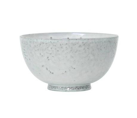 HK-living Dessertschaaltje wit keramiek 12x12x6,5cm