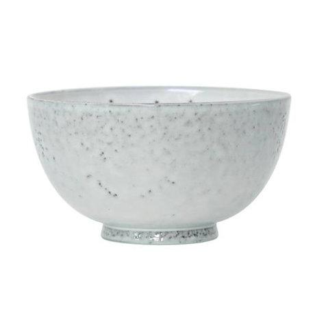 HK-living Dessertschale weißer Keramik 12x12x6,5cm