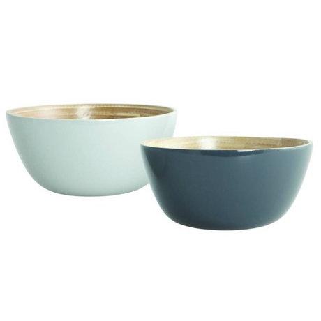 Nicolas Vahe Bowls set of 2 Cravina gray bamboo ø12,5cm